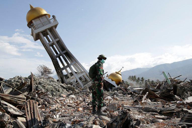 Archiefbeeld van de zware aardbeving vorig jaar in Palu, Sulawesi.