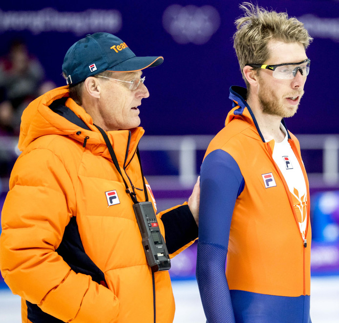 Jorrit Bergsma en coach Jillert Anema.
