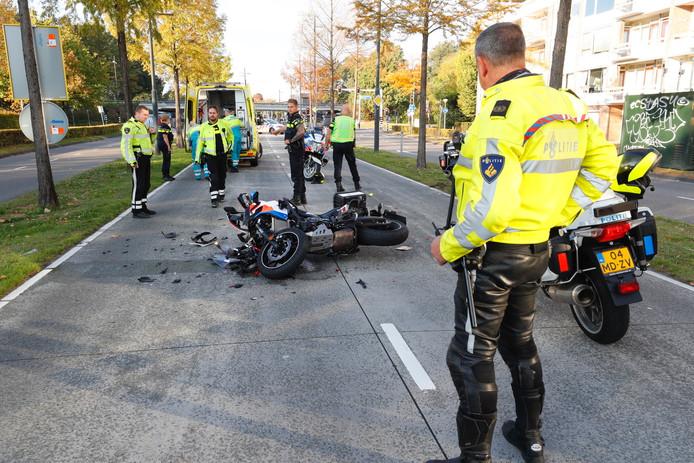 Op de Bredalaan in Eindhoven vond zondagochtend een ongeluk plaats.