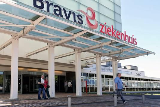 De hoofdingang van het Bravis Ziekenhuis im Bergen op Zoom