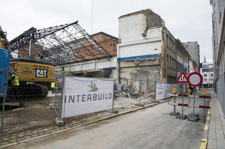 De afbraak van parking Leopold, waar Palais de Glace lag, is al begonnen.