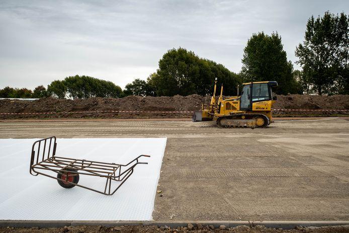 De parking van kinderboerderij 't Struisvogelnest wordt momenteel heraangelegd.
