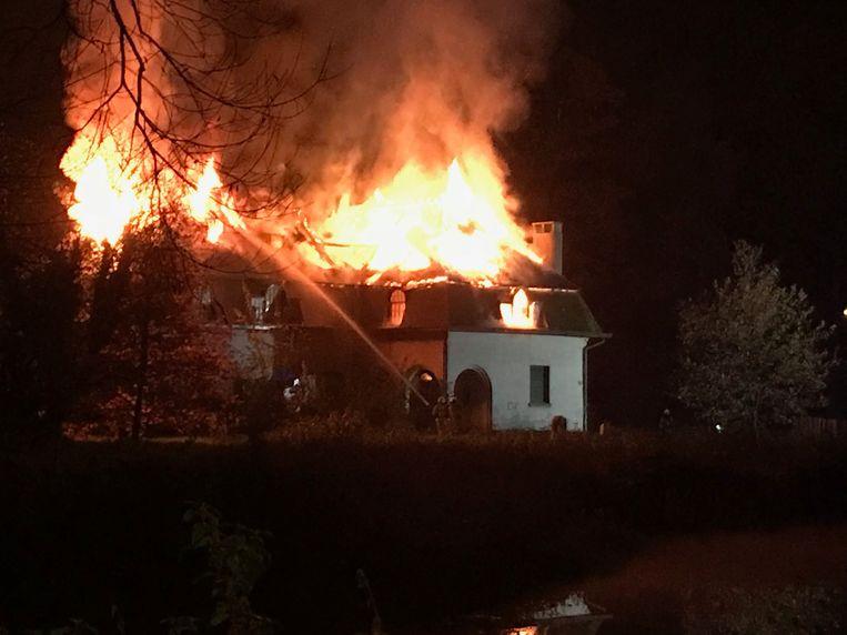 De villa werd volledig verwoest