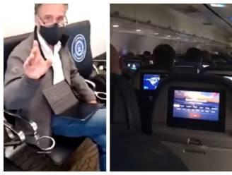 """Trumpfans zonder mondmasker schelden Mitt Romney uit voor """"verrader"""" op vlucht naar Washington"""