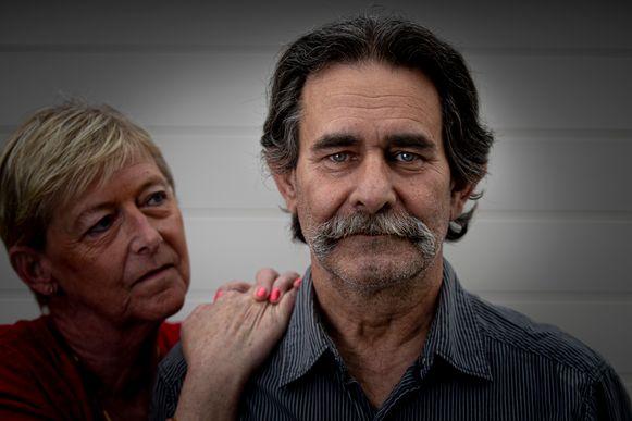 Alzheimerpatiënt Frank Lescrinier met zijn vrouw Iréne.