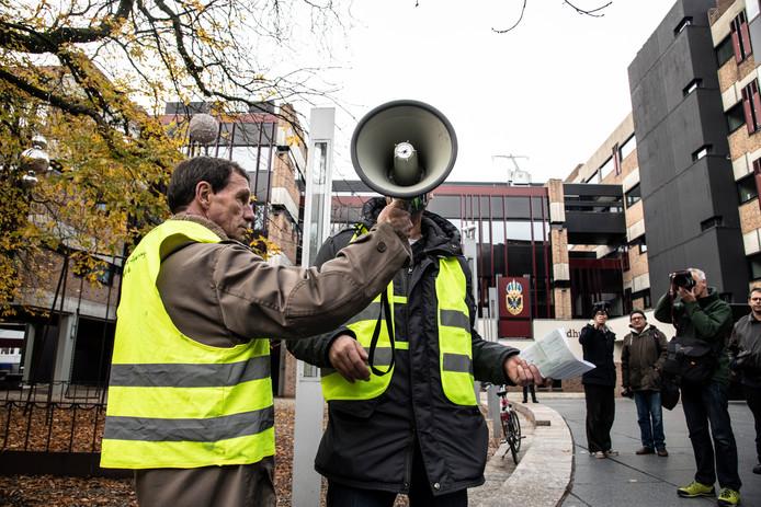 Een eerdere demonstratie van de 'Gele Hesjes' in Nijmegen.