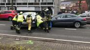 Twee voertuigen botsen : verschillende gewonden