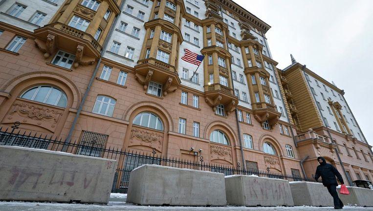 De ambassade van de Verenigde Staten in Moskou Beeld anp