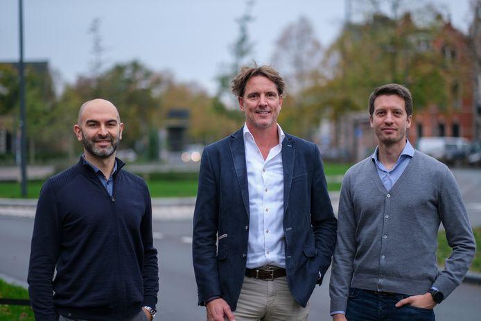 De drie Enpicom-oprichters. Vlnr Alvise Trevisan, Jos Lunenberg en Nicola Bonzanni.