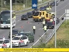 Vijf auto's betrokken bij botsing op A58 van Eindhoven naar Tilburg