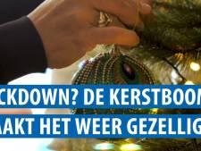 Lockdown? Mathilde uit Assen zet kerstboom in de woonkamer. 'Ik ga straks ook gourmetten'