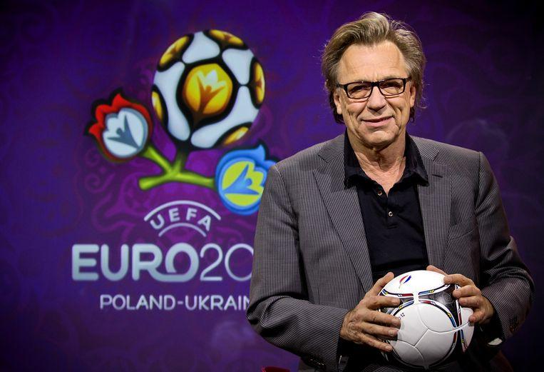 Jan Mulder was een van de presentatoren van NOS Studio Sportzomer in 2012. Beeld ANP Kippa