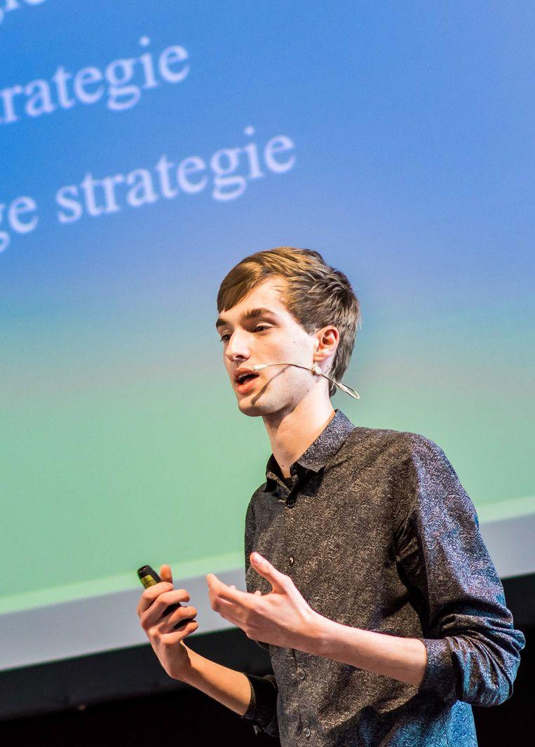 Keynote-speaker Jesse van Doren. Beeld rv