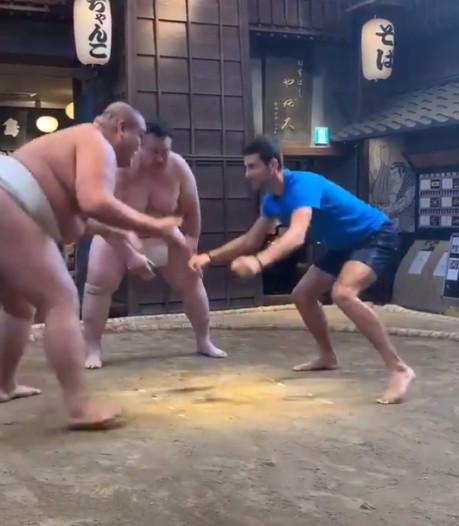 Un combat de Sumo pour Novak Djokovic