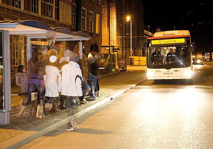 Nachtbus Den Haag. Foto ter illustratie.