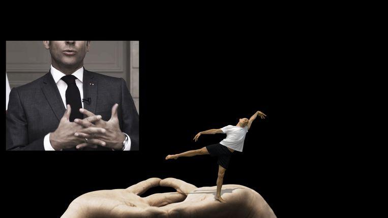 Handgebaren van Emmanuel Macron. Beeld David Middendorp