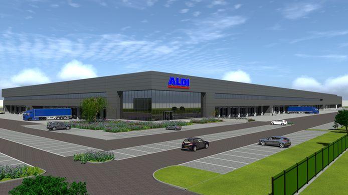 Zo gaat de nieuwbouw van Aldi eruit zien op Bedrijvenpark A1.