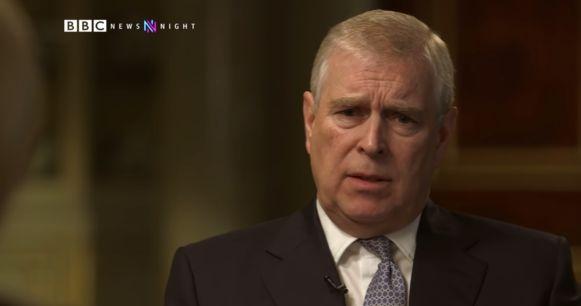 Prins Andrew in het interview met BBC.