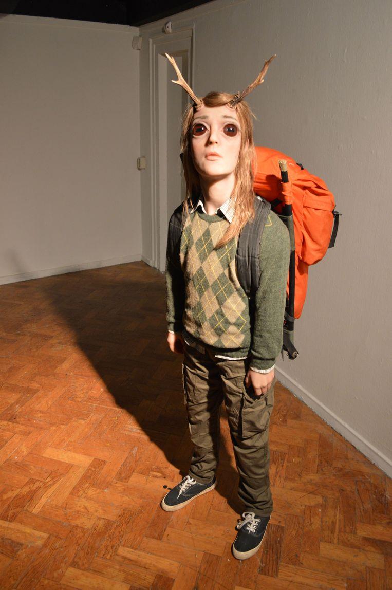 'The Tourist' van Margriet van Breevoort. Museum Arnhem. Beeld RV