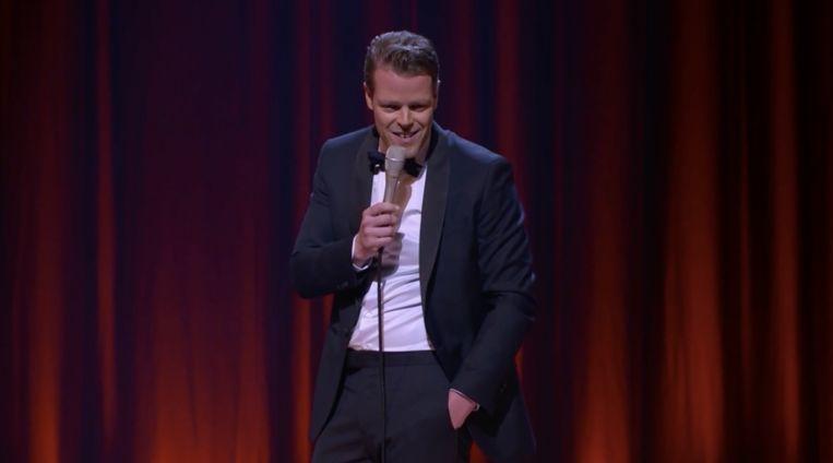 De oudejaarsconference van Martijn Koning op RTL 4. Beeld RTL
