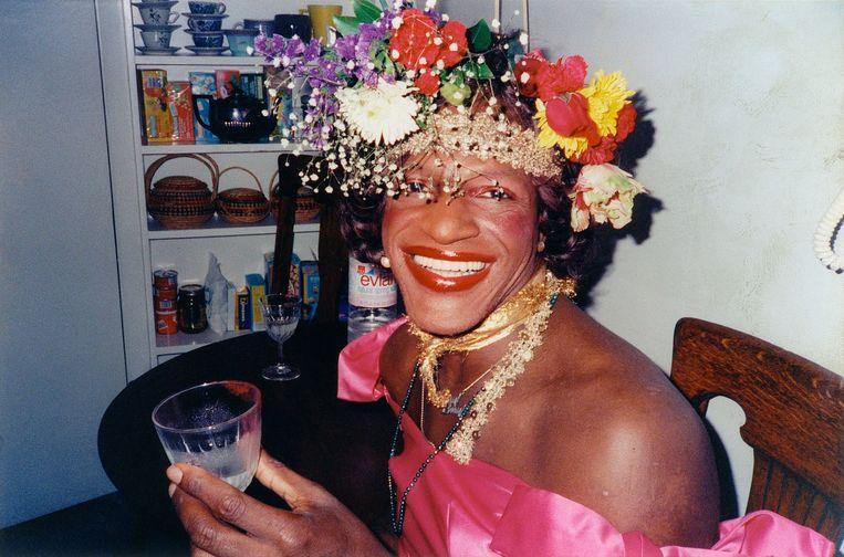 Marsha P. Johnson, activist voor de rechten van transgenders. Beeld filmbeeld