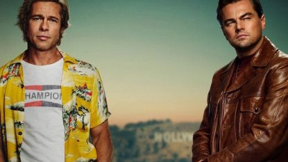 Leonardo DiCaprio en Brad Pitt poseren voor het eerst samen op filmposter