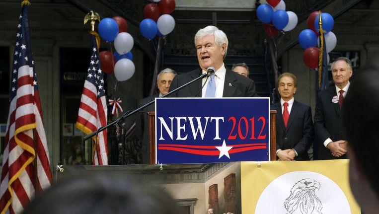 De Amerikaanse presidentskandidaat Newt Gingrich Beeld ap