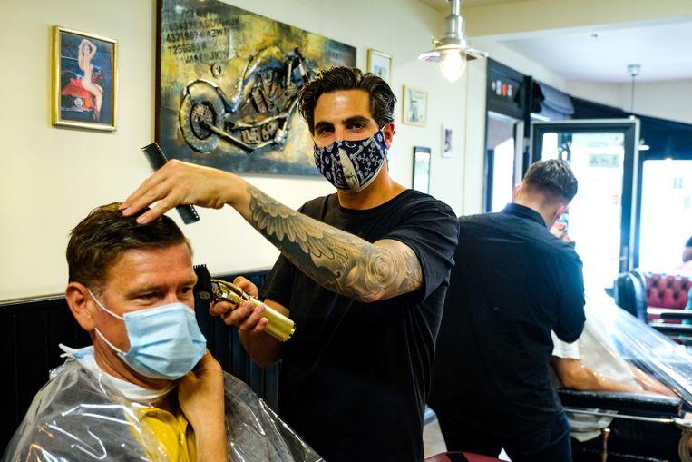 Kapper Jurgen Marien van Jurgen's Classic Barbershop ontving op Hemelvaart heel wat klanten