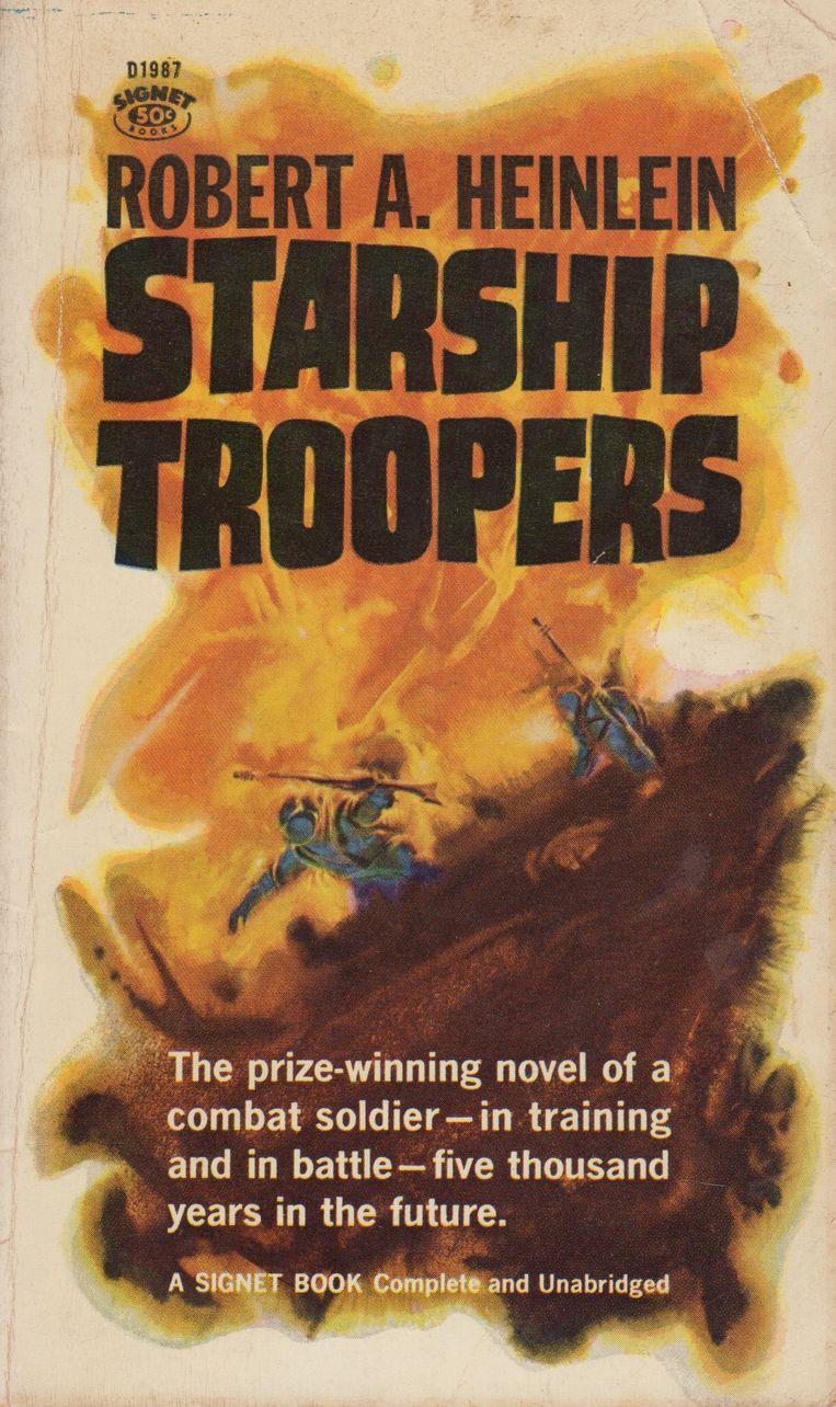 Robert Heinleins roman Starship Troopers, uit 1959. Beeld