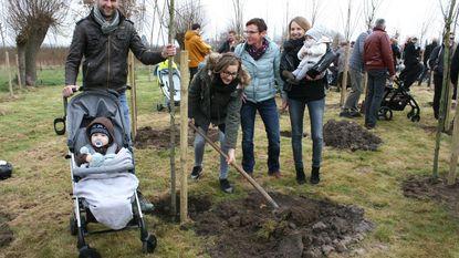 79 nieuwe bomen in geboortebos