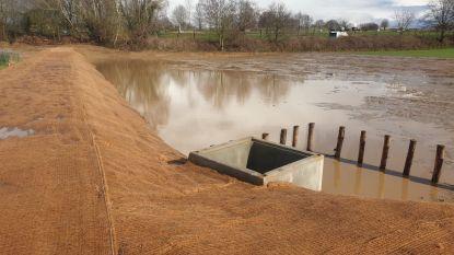 Eerste erosiepoel die overstromingen moet voorkomen bijna klaar
