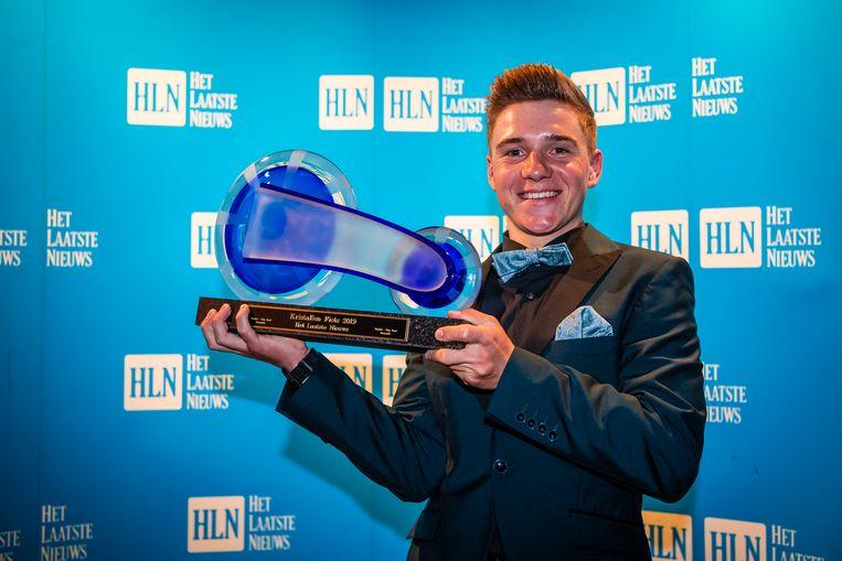 Remco Evenepoel won deze winter nog als jongste renner ooit de Kristallen Fiets.