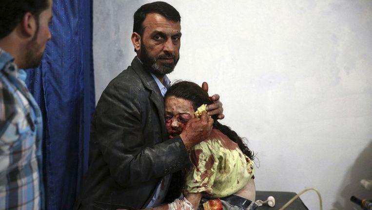 Een veldhospitaal in Syrië, de favoriete foto van directeur Lars Boering van World Press Photo Beeld Abd Doumany