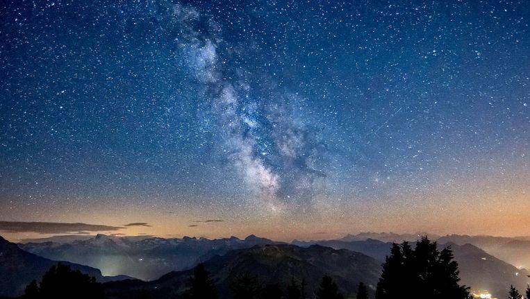 De Melkweg boven Zwitserland. Beeld epa