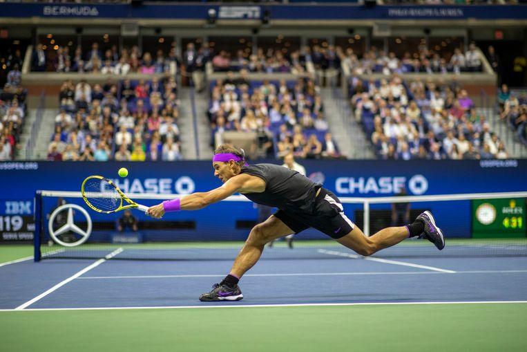 Rafael Nadal heeft zich al afgemeld voor de US Open. Beeld Foto Getty