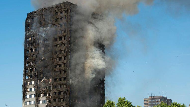 De volledig verwoeste flat. Beeld EPA