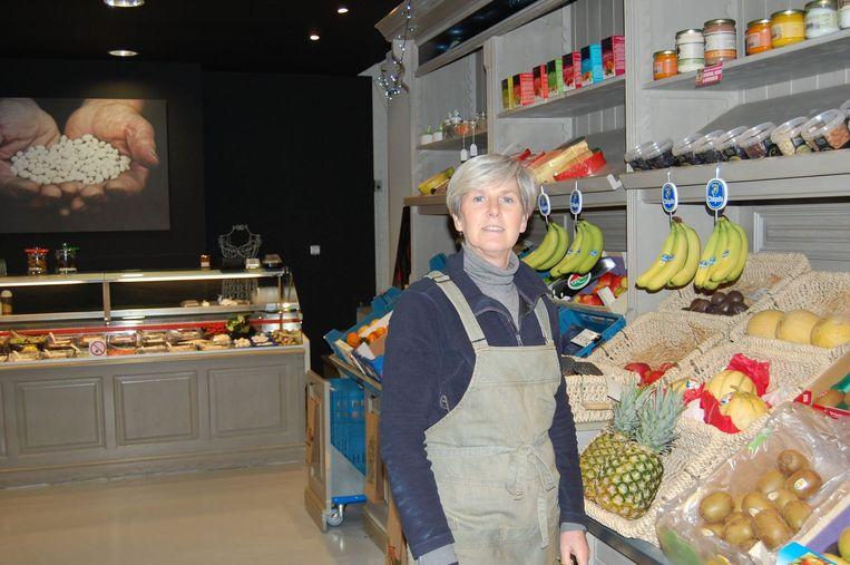 Chantal Thielens moet noodgedwongen de deuren sluiten van haar groente- en fruitwinkel De Poort.