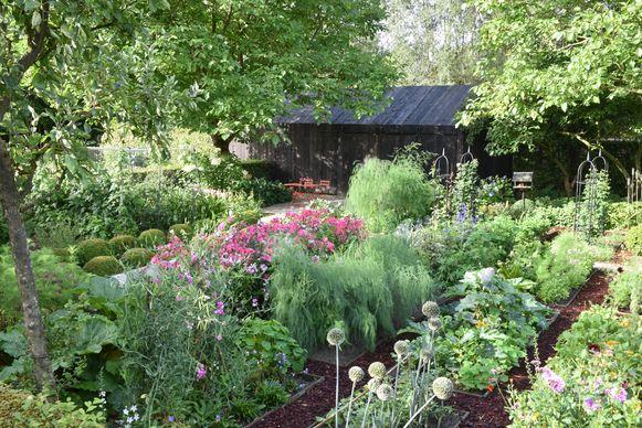 De tuin in de Boereweg is een klein paradijs.