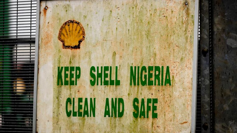 Olie en gas verwerkingsstation Agbada 2 van Shell. Beeld anp