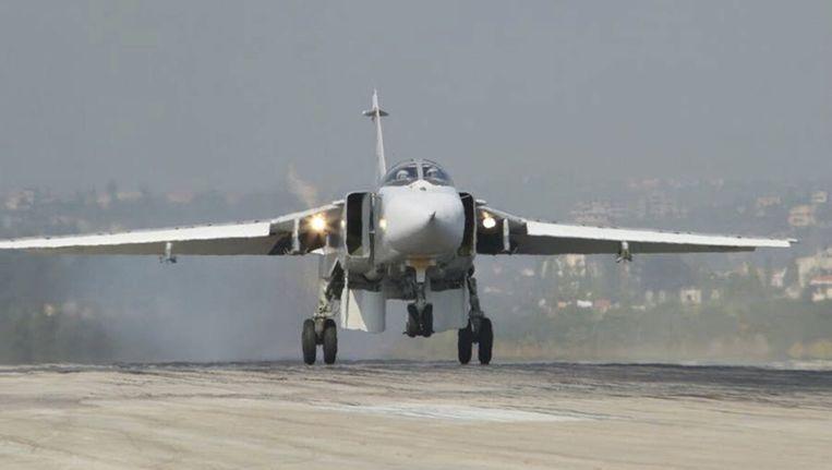 Een Russische Su-24 in Syrië. Beeld reuters