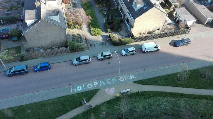 Deze foto is vanuit een flat aan de Eemstein in Zwijndrecht. Voor alle opa's en oma's daar.