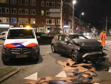 Ravage op Pleinweg in Rotterdam-Zuid na aanrijding