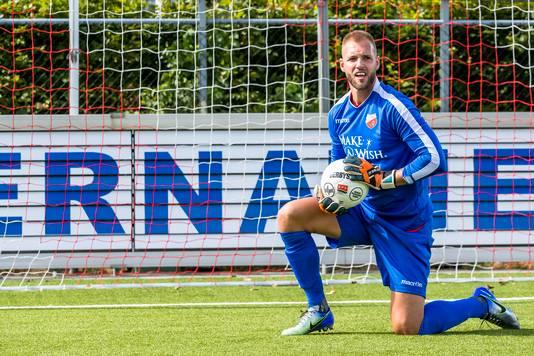 Sven van Ingen hield zich als keeper prima op de been tegen AFC (0-1). Aan het tegendoelpunt kon hij weinig doen.