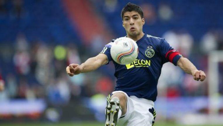 Luis Suarez van Ajax in actie tijdens de wedstrijd tegen Feyenoord. ANP Beeld