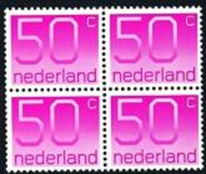 De sobere en zakelijke postzegels van Crouwel.