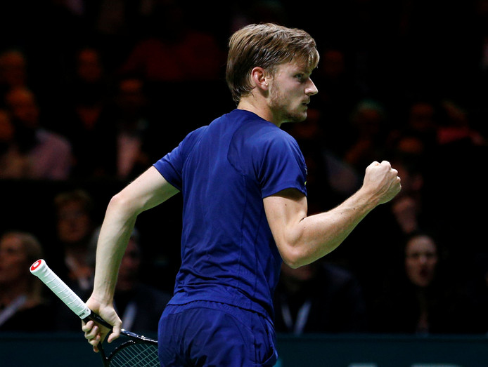 David Goffin tijdens de finale in 2017.