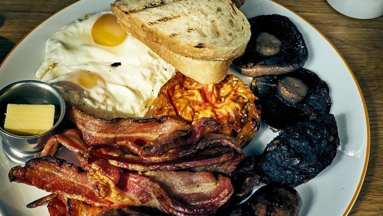 Een full Irish breakfast Beeld Oof Verschuren