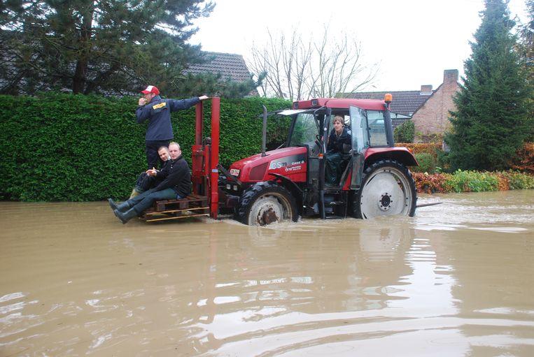 Londerzeel werd in het verleden geregeld getroffen door overstromingen. Hier in de Sneppelaar een kleine tien jaar geleden.