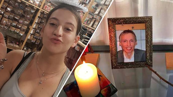 Roos Verschuur (19) en Rinke Terpstra (49), twee van de drie dodelijke slachtoffers bij de aanslag in Utrecht.