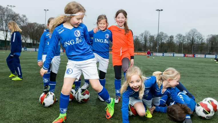 Voetbal Het Team: JO9-8M De Vereniging: Wilhelmina Beeld Ivo van der Bent
